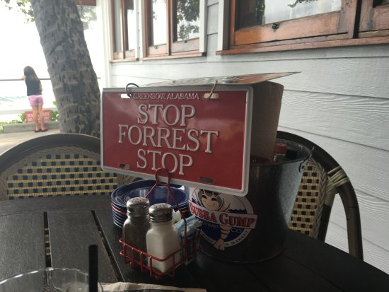 Loved The Table Signs Picture Of Bubba Gump Shrimp Co Kailua - Restaurant table signs