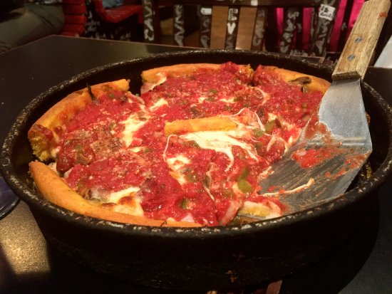 Ginos East Classic Deep Dish Pizza Chicago Style Picture Of