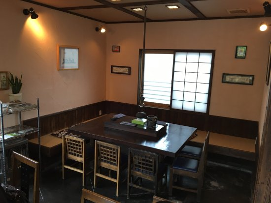 Sobakura: Interior of the small soba restaurant (max 22 seats)
