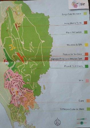 Arbatax Cartina Geografica.Mappa Arbatax Park Resort Foto Di Arbatax Park Resort Telis Tripadvisor