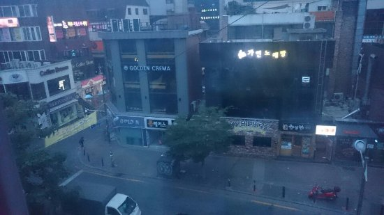 Dustin Guest House: View from my room. The heart of Hongdae