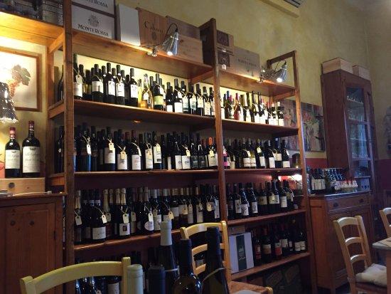 Osteria Picciarello: wine selection (part of)