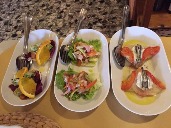 """Osteria Picciarello: just 3 out of 6 or 7 different pieces of the """"antipasto misto"""""""