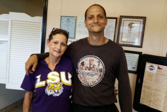 Bay Minette, Алабама: Teresa & her Son