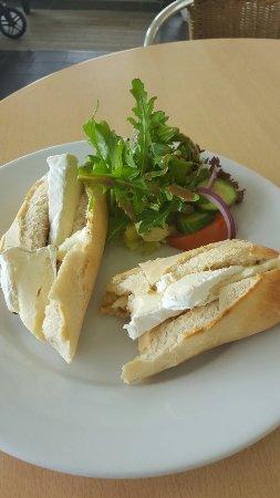 Footprints Cafe Bistro: Brie baguette. Yum