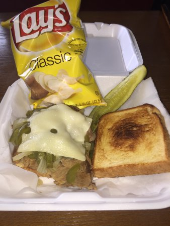 Bay Minette, Алабама: Brisket & Pepper Steak Sandwich