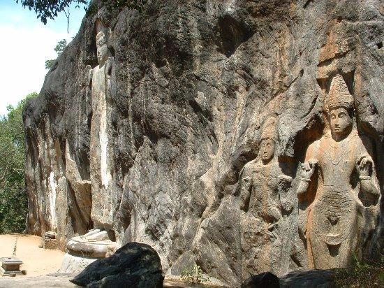 Uva Province, Sri Lanka: Buduruwagala Temple