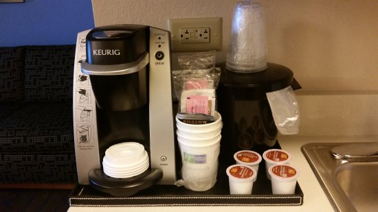 Holiday Inn Express & Suites Terre Haute: in room keurig maker