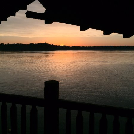 Birchwood, WI: Beautiful sunset from Boat House