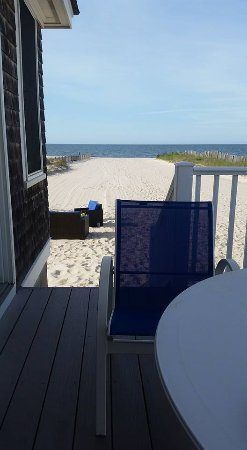 Harwich Port, MA: View from the beach house patio