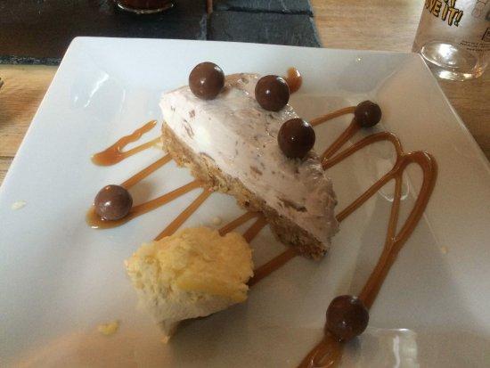 Luxulyan, UK: Malteaser cheesecake
