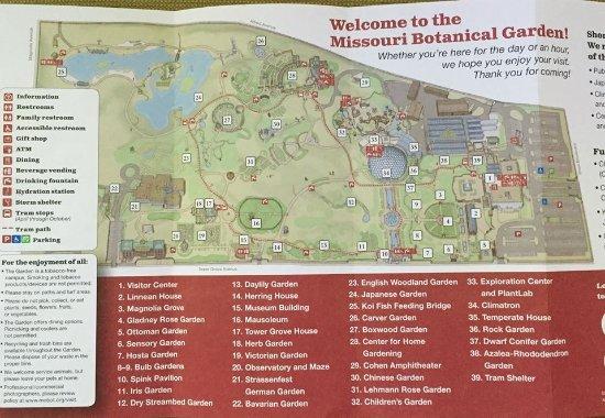 Map of the Botanical Garden  Picture of Missouri Botanical Garden
