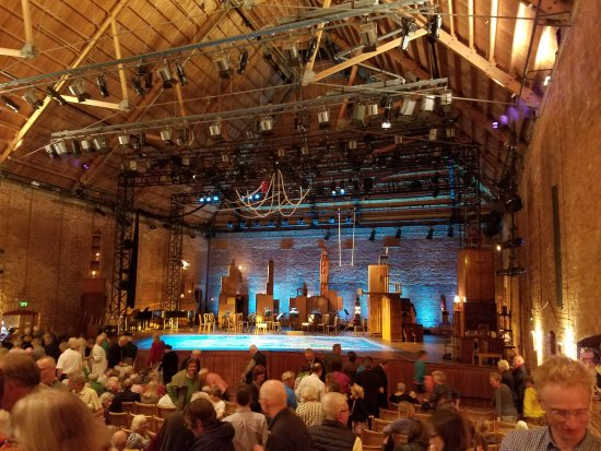 Snape, UK: a view of the stage from the middle right