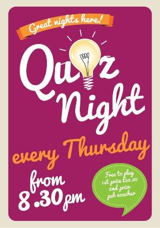 Needham Market, UK: Thursday's Quiz nights