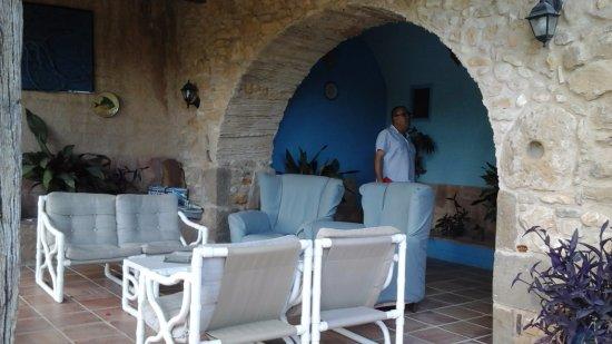Camallera, İspanya: Porche de la casa principal.