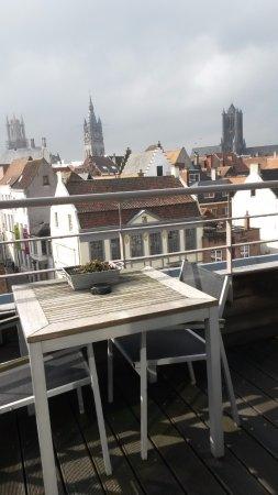 Hotel Harmony: view through the patio doors