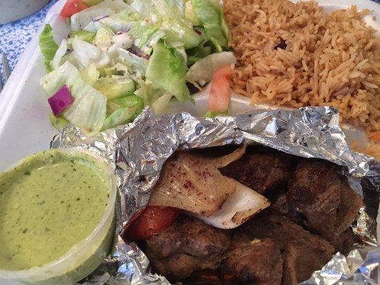 Hanover, MD: Delicious lamb kabob and very good rice