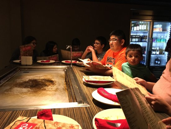 Tomo Hibachi: We hands great meal and the sushi was the best! Our chefs name was Jimmy and he was so sweet and