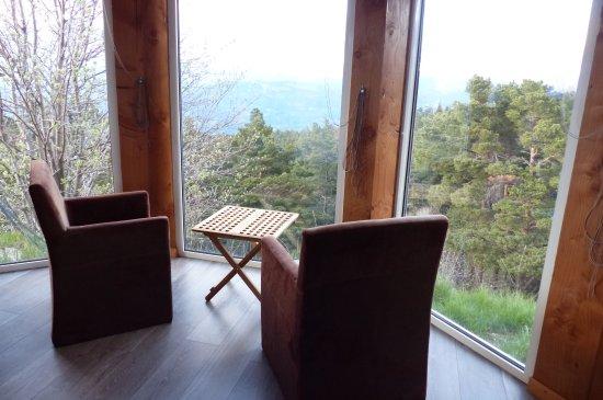 Camping du Mont Serein : Vue sur la montagne,un ravissement des yeux quelque soit l'heure