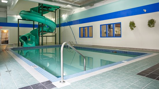 Indoor pool with waterslide  Indoor Pool & Waterslide - Picture of Best Western High Road Inn ...