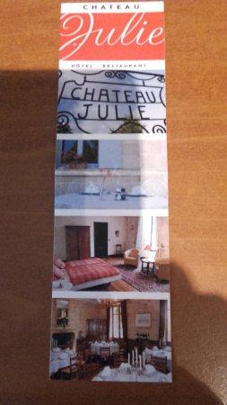 Virsac, Frankrig: n'ayant pas fait de photo! j'ai photographié la petite pub de la réception!