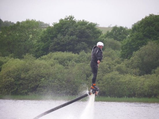 Crocketford, UK: Flyboarding