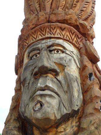 Wautoma, WI: Wonderful Totem Poles!