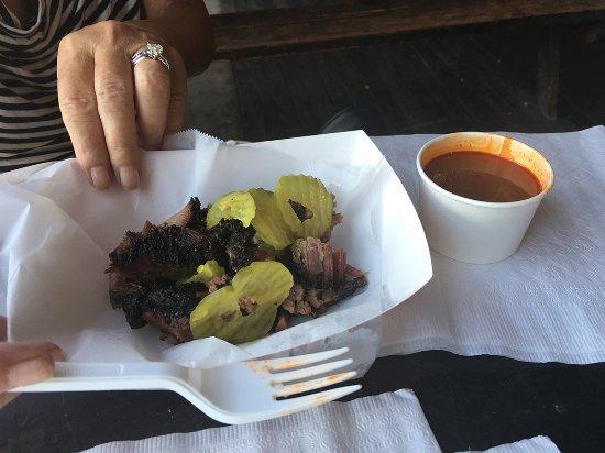 Taylor, TX: Yum! Brisket sandwich.
