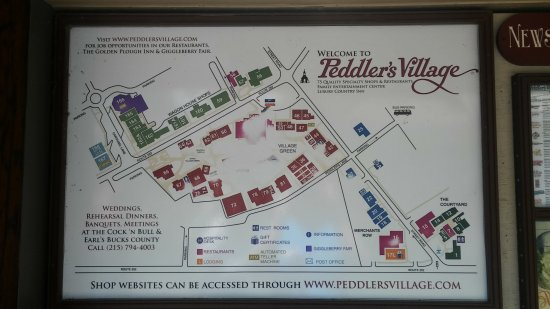 Posted Maps Everywhere Picture of Peddler s Village Lahaska