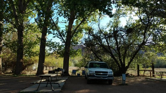 Slickrock Campground: My truck (which I camped out of) and my campsite