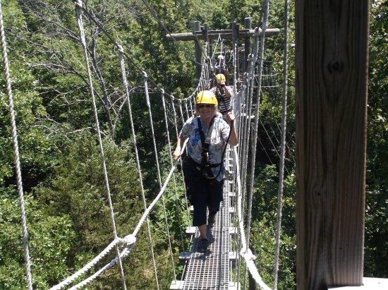 Walnut Shade, MO: one of the rope bridges