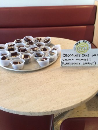 Dufflet Pastries Downtown: The samples of black and white cake was awesome