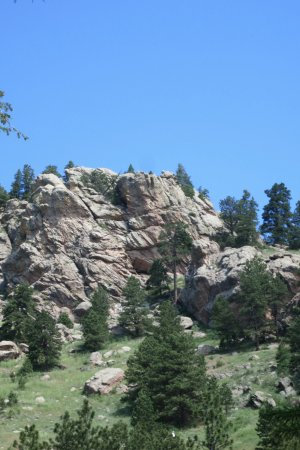 Bellvue, CO: View of Arthur's Rock on the path of ascent