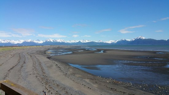 The Alaska Beach House: Homer Spit and Kachemak Bay view from near the Eagles Loft.