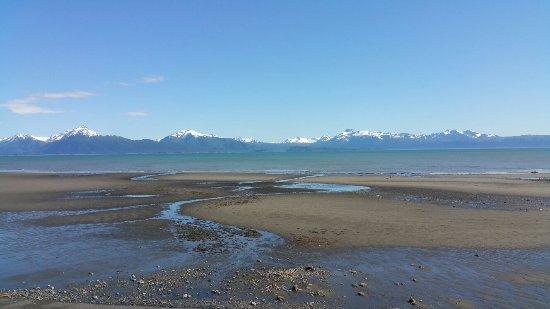 The Alaska Beach House: Homer Spit and Kachemak Bay view from the Eagles Loft.