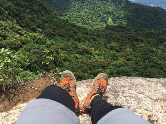 Los Banos, Philippines: Steep cliffside.