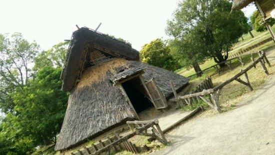Toro Park: 博物館前の竪穴式住居