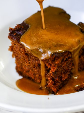Upton Bishop, UK: Home made sticky toffee pudding