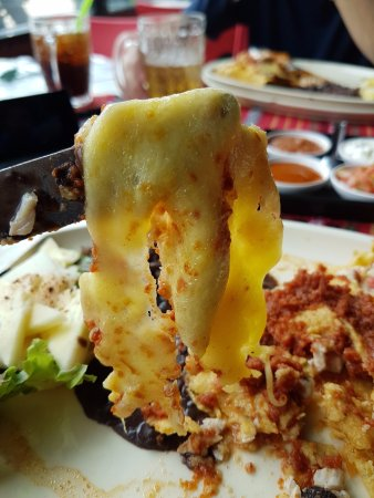 Not even melted cheese on Enchilada
