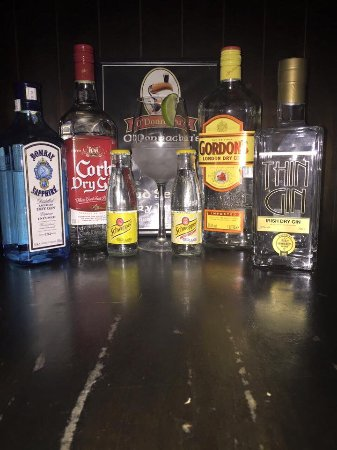 O'Donnachas Bar: Selection of Gin available