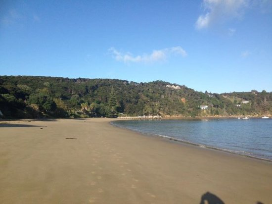 Kawau Island, Nya Zeeland: Alone on the beach!