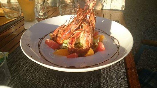 Le Grain de Sable : Salade gambas agrumes
