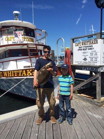 Captain Whittaker 65' Fishing Boat: B's catch of the day! 5.22 fluke.