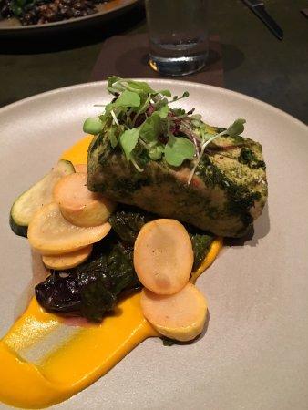 Staunton, VA: Tofu steak and swordfish