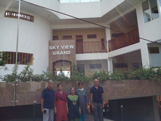 Sky View Hotel : View from the rear entrance of the hotel