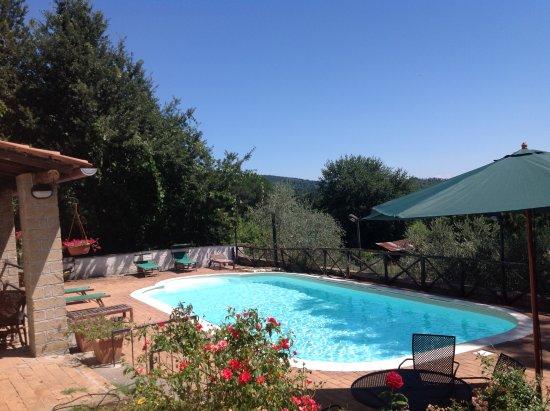 Manziana, Italia: vista piscina