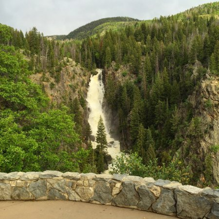 View of the falls from the overlook trail picture of for Fish creek falls
