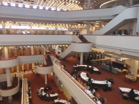 Toronto Public Library: View from the elevator
