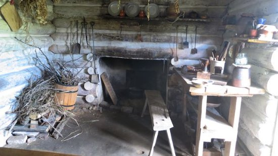 National Colonial Farm: Interior Of Summer Kitchen