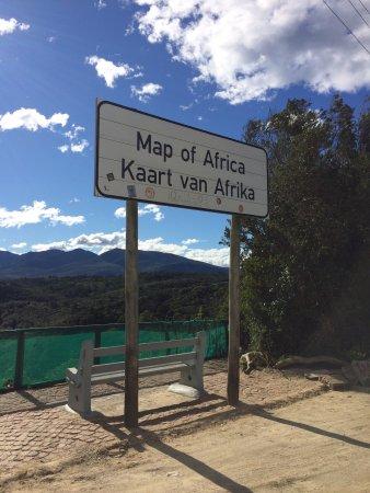 Wilderness, Sør-Afrika: Map of Africa Viewpoint